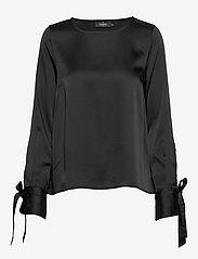 Morris Lady - Kari Blouse - blouses met lange mouwen - black - 0
