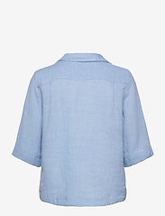 Morris Lady - Marseille Linen Blouse - kortärmade blusar - blue - 1