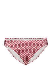 Elaine Pattern Bikini Bottom - CERISE