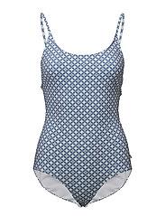 Leola Pattern Swimsuit - LIGHT BLUE
