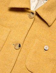 Morris Lady - Marea Herringbone Coat - wool jackets - yellow - 2