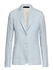 Delores Linen Blazer - LIGHT BLUE