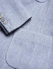 Morris Lady - Delores Herringbone Blazer - casual blazers - light blue - 3