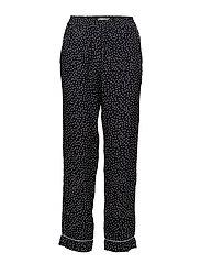 Amélie Printed Trousers - BLACK
