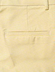 Morris Lady - Anais Checked Trousers - broeken med straight ben - yellow - 4