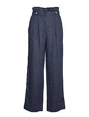 Elsa Linen Trousers - BLUE