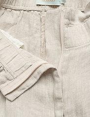 Morris Lady - Elsa Linen Trousers - bukser med brede ben - khaki - 3