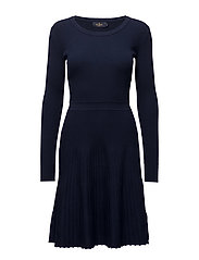 Alexandrine Knit Dress - NAVY