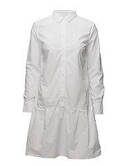 Adeline Shirt Dress - WHITE