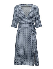 Aimée Print Dress - BLUE