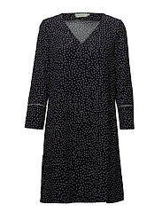 Éve Print Dress - BLACK