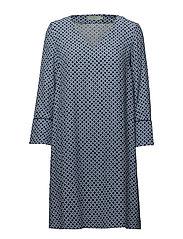 Éve Print Dress - BLUE