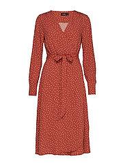 Aurélie Wrap Dress - BROWN