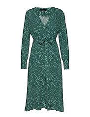 Aurélie Wrap Dress - GREEN