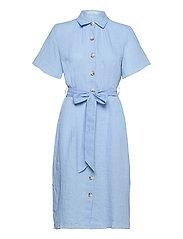 Hanna Linen Dress - BLUE