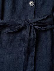 Morris Lady - Hanna Linen Dress - vardagsklänningar - blue - 4