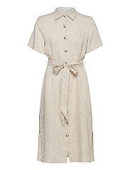 Hanna Linen Dress - KHAKI