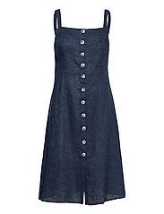 Nathalie Linen Dress - BLUE