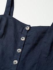 Morris Lady - Nathalie Linen Dress - midi dresses - blue - 2