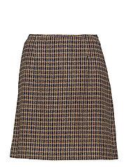 Belle Checked Skirt - NAVY
