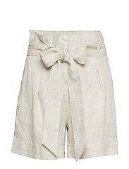 Elba Linen Shorts - KHAKI
