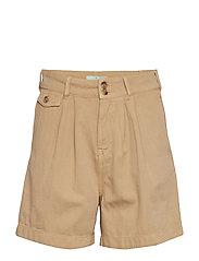Paulette Chino Shorts - CAMEL