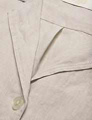 Morris Lady - Donna Linen Shirt - kortärmade skjortor - khaki - 2