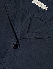 Morris Lady - Donna Linen Shirt - kortärmade skjortor - navy - 2