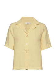 Donna Linen Shirt - YELLOW