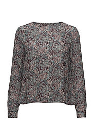 Flora Liberty Blouse - WINE RED