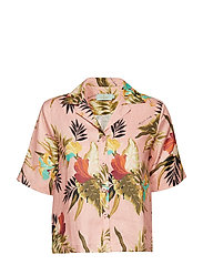Donna Printed Linen Blouse - PINK