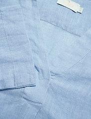 Morris Lady - Marseille Linen Blouse - kortärmade blusar - blue - 2