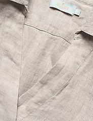 Morris Lady - Marseille Linen Blouse - kortärmade blusar - khaki - 2