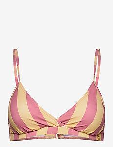 Joelle Stripe Bikini Top - bikinitops - yellow
