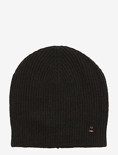Aubrey Ribbed Beanie - BLACK