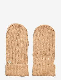 Aubrey Ribbed Mittens - handschoenen - camel