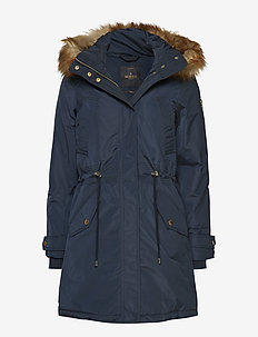 Edith F Down Jacket - parka coats - blue