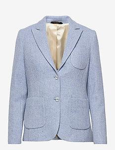 Delores Herringbone Blazer - casual blazere - light blue