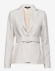 Tiona Linen Blazer - getailleerde blazers - khaki