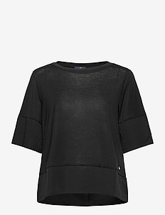 Alicia Jersey Top - t-shirts - black