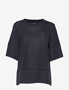 Alicia Jersey Top - t-shirts - blue