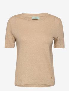 Gisella Linen Tee - t-shirts - camel