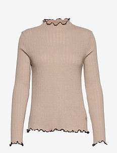 Aveline Jersey Top - pullover - camel