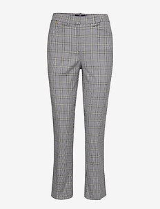 Anais Checked Trousers - NAVY