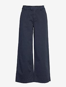 Francoise Trousers - leveälahkeiset housut - blue