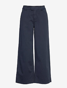 Francoise Trousers - bukser med brede ben - blue