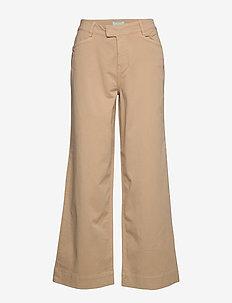 Francoise Trousers - bukser med brede ben - camel