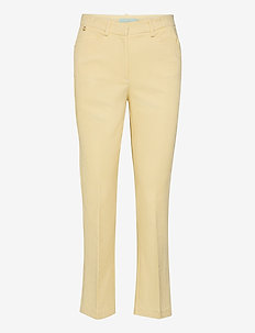 Anais Checked Trousers - broeken med straight ben - yellow