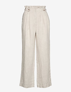 Elsa Linen Trousers - wide leg trousers - khaki