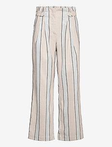 Elsa Trousers - wide leg trousers - khaki